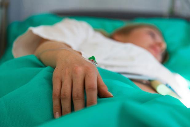 une femme enceinte à l'hôpital
