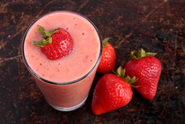 Un jus à la fraise.