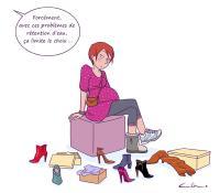 La grossesse limite le choix des chaussures