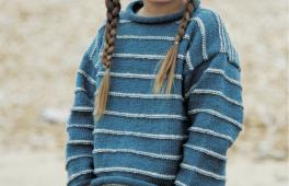 Pull marin pour enfant à tricoter
