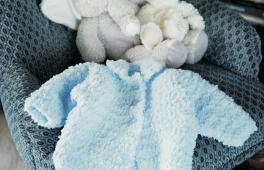 Veste de bébé bouclée