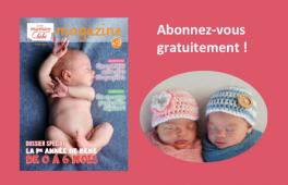 Couverture du magazine Guide Maman Bébé n°9 ainsi qu'une photo de nourrisson.