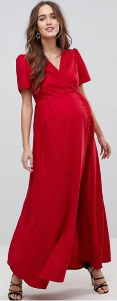 3f1b006fcdc Cette robe de grossesse rouge élégante et sophistiquée vous ira à ravir  pour la Saint-Valentin
